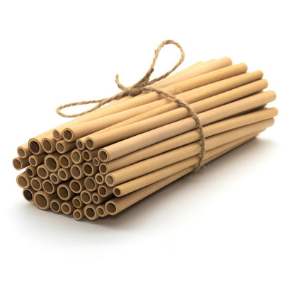Large sets of bamboo straws