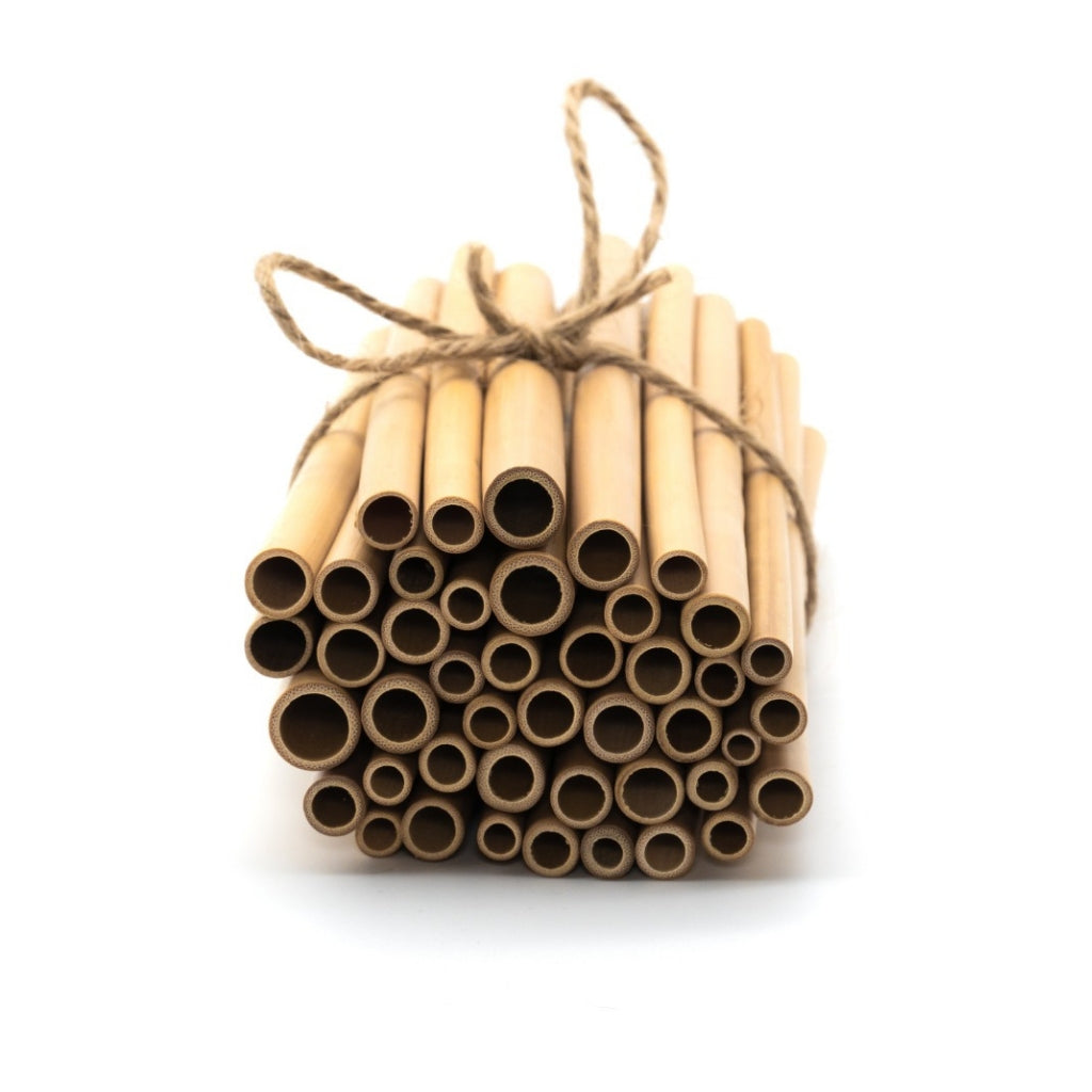 Trade packs of bamboo straws