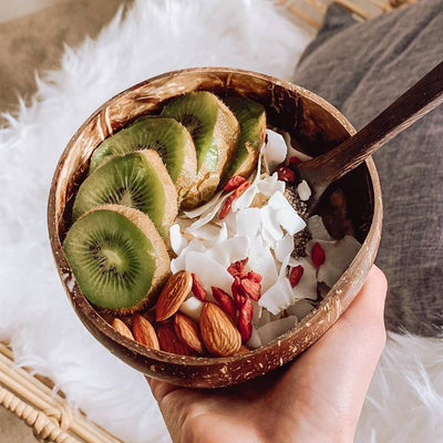 coconut bowls with white inside