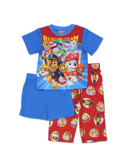 Paw Patrol Toddler Boys 3 piece Shorts Pajamas Set