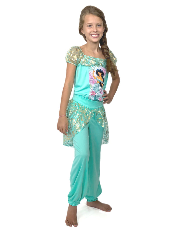 Disney Princess Jasmine Aladdin Girls Fantasy Costume Pajamas
