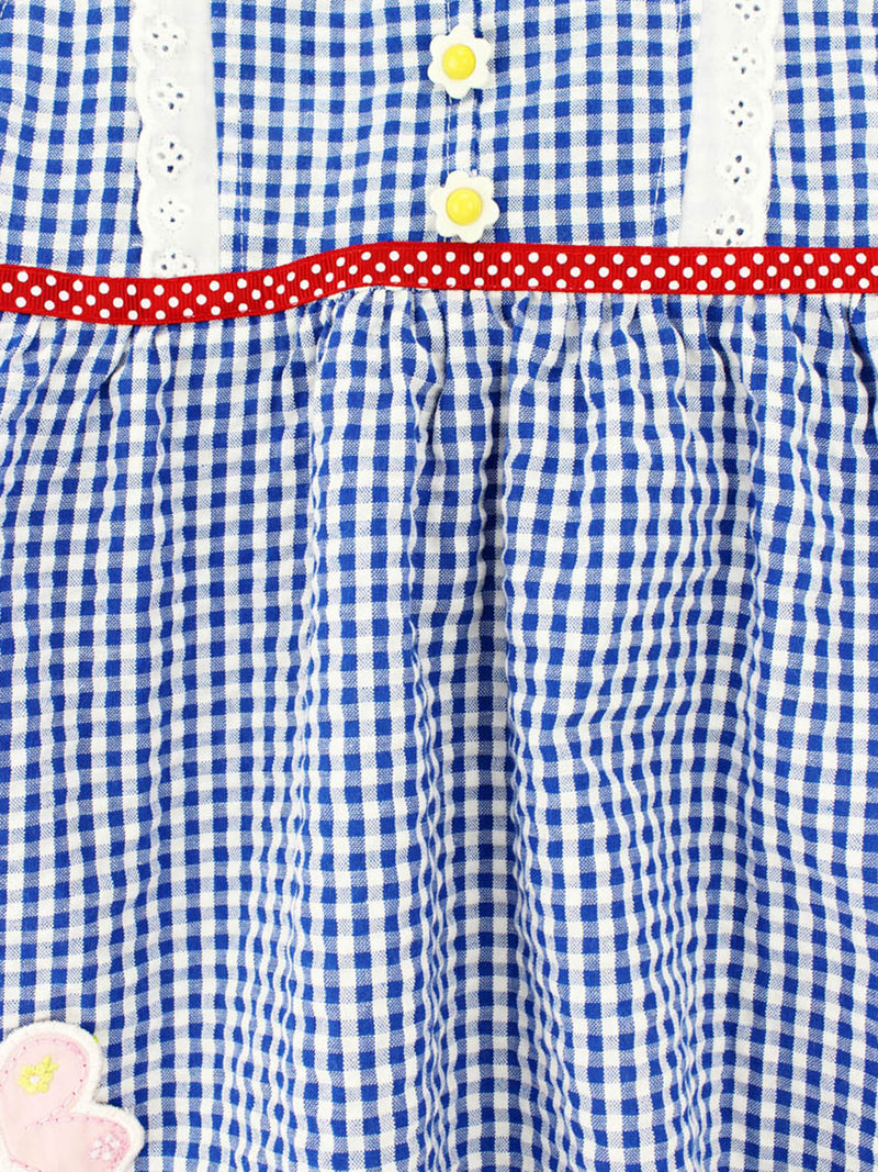 Forever Magic Toddler Girls Blue Gingham Ruffle Dress