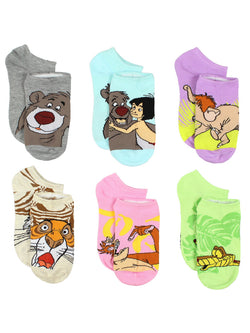 The Jungle Book Girls Boys 6 pack Socks Set