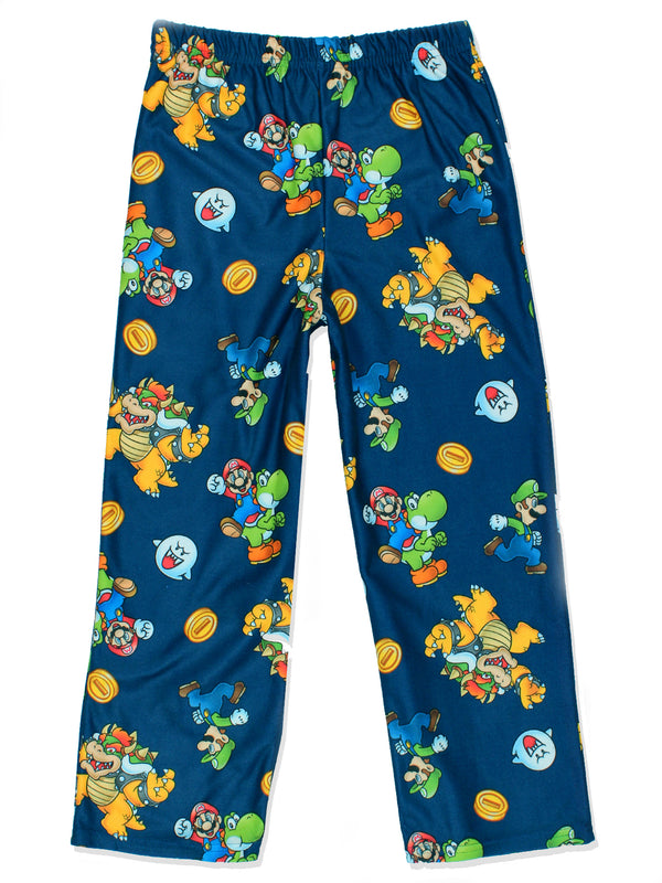 Super Mario Boy's Flannel Lounge Pajama Pants