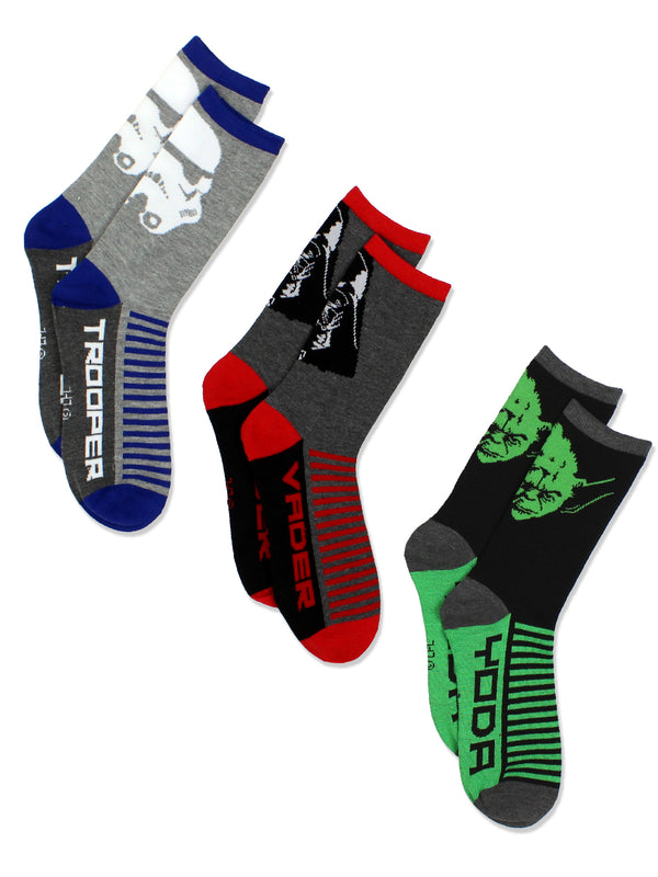 Star Wars Boys Teen Adult 3 pack Socks Set