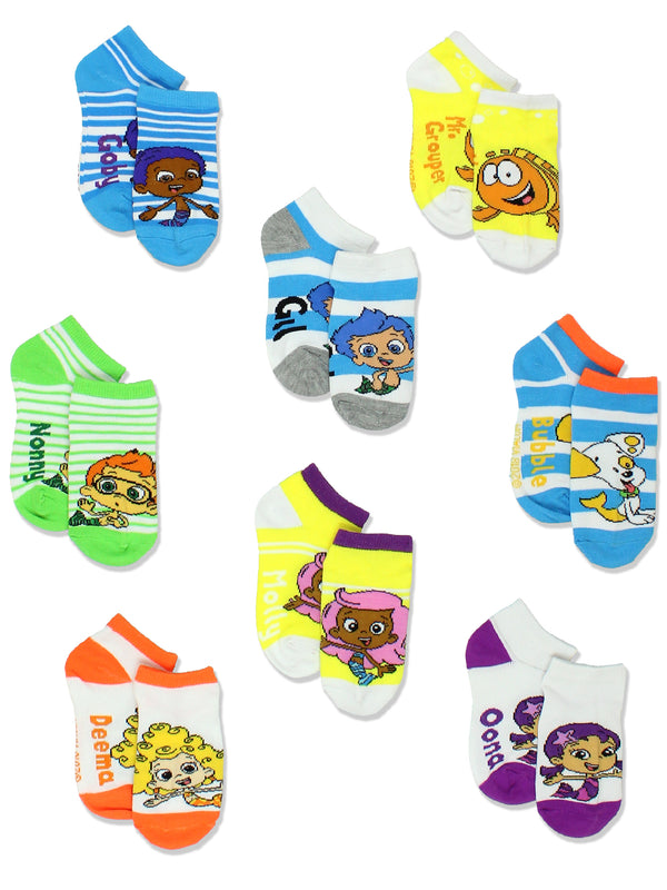 Bubble Guppies Toddler Boys Girls 8 pack Socks Set