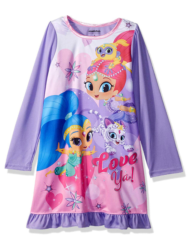 Shimmer and Shine Girls Long Sleeve Nightgown Pajamas