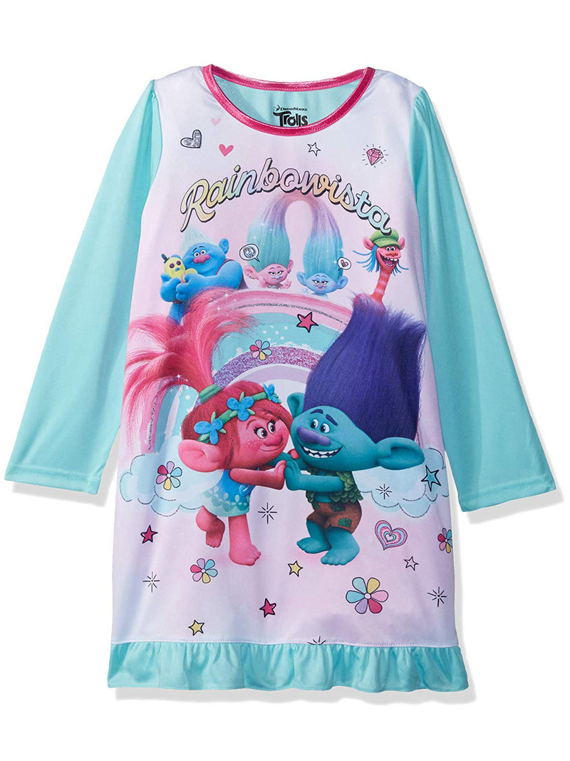 Trolls Poppy Girls Long Sleeve Nightgown Pajamas