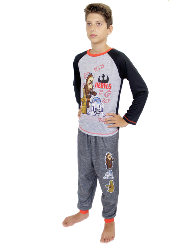 Lego Star Wars Poly Top Flannel Pants Boys 2 piece Pajamas Set