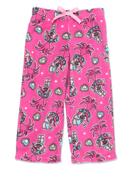 Trolls Poppy Girls Plush Fleece Lounge Pajama Pants