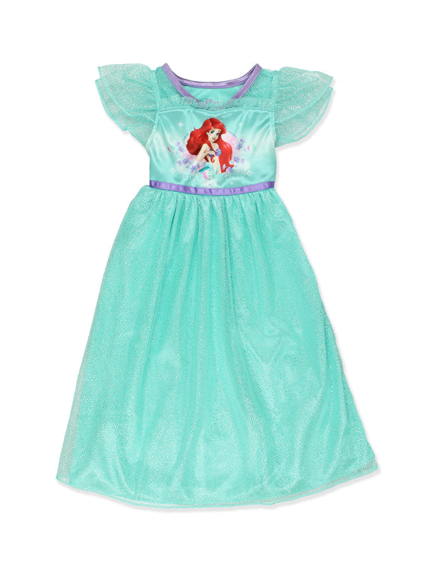 The Little Mermaid Ariel Girls Fantasy Gown Nightgown Pajamas