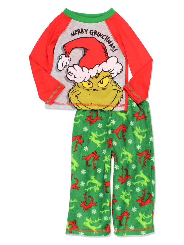 Dr. Seuss The Grinch Who Stole Christmas Toddler Boys 2 piece Holiday Pajamas Set