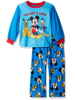 Mickey Mouse Pluto Donald Duck Toddler Boys Fleece Pajamas Set