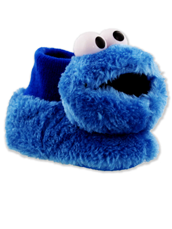 Sesame Street Cookie Monster Toddler Boys Girls Plush 3D Head Sock Top Slippers