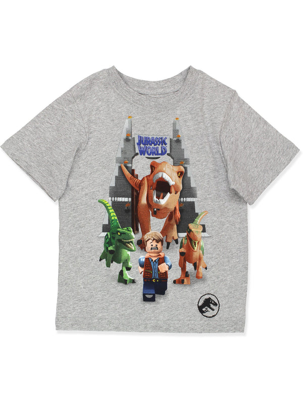 Lego Jurassic World Dinosaur Boy's Short Sleeve T-Shirt Tee