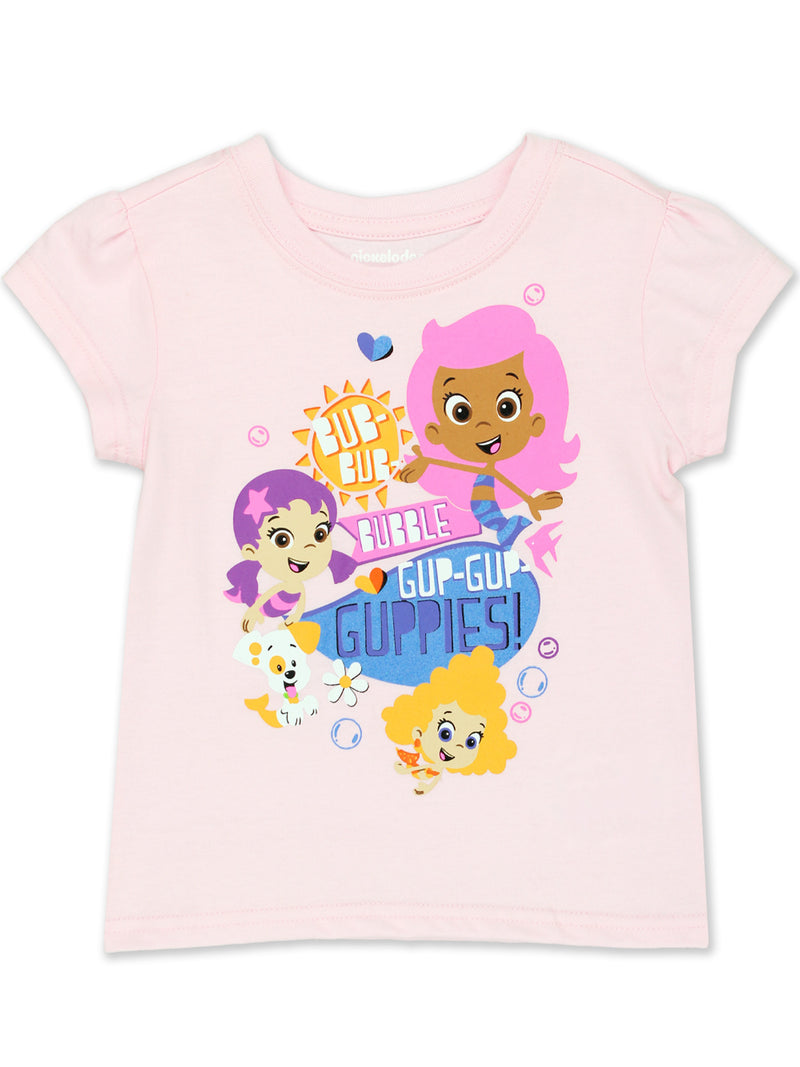 Bubble Guppies Toddler Girls Short Sleeve T-Shirt Tee