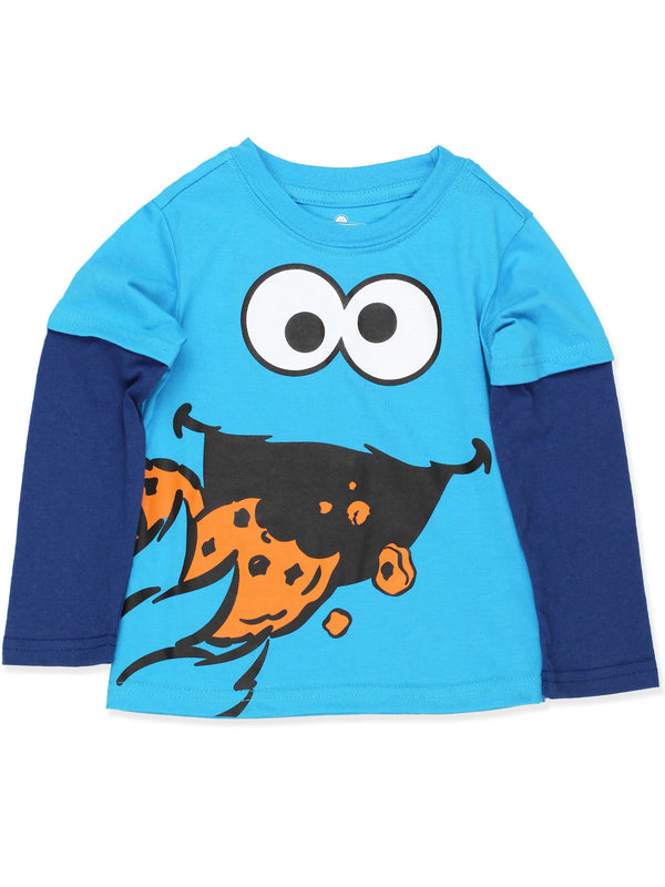 Sesame Street Cookie Monster Toddler Boys Long Sleeve Tee