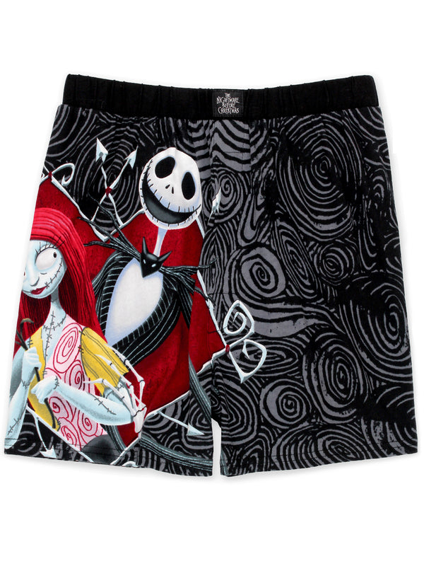 Nightmare Before Christmas Jack and Sally Men's Boxer Shorts Underwear