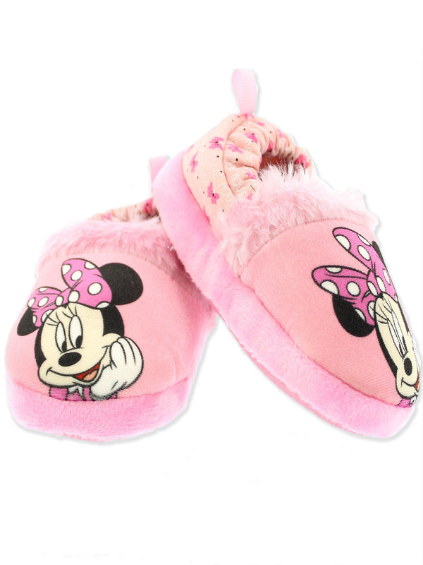 Minnie Mouse Toddler Girl's Plush A-Line Slippers