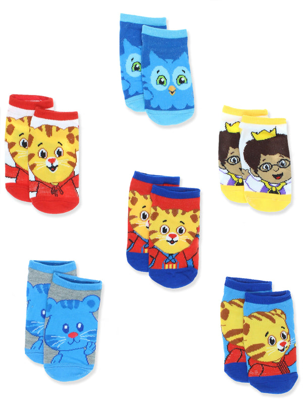 Daniel Tiger's Neighborhood Toddler Boys 6 pack Socks