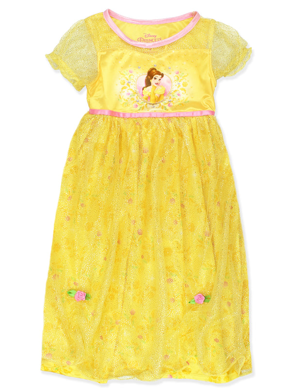 Disney Princess Belle Beauty and the Beast Girls Fantasy Gown Nightgown
