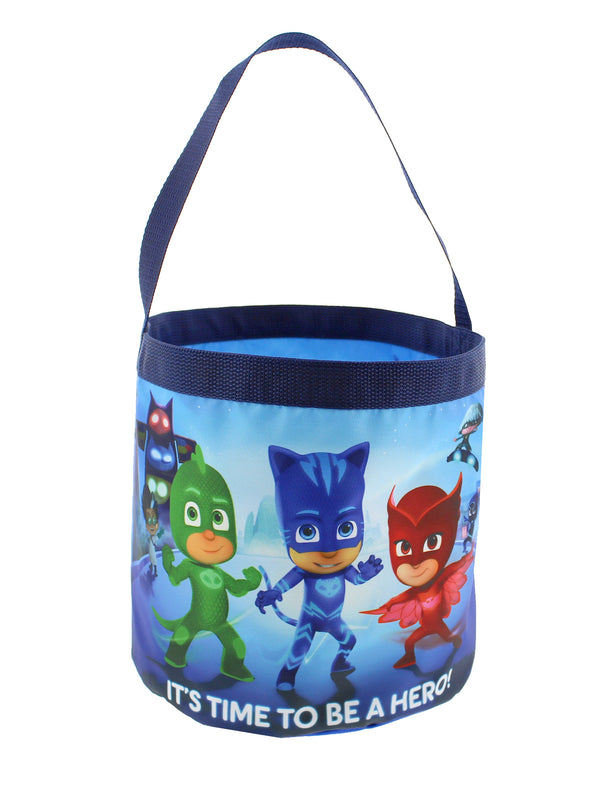 PJ Masks Boys Girls Collapsible Nylon Halloween Bucket Toy Storage Gift Tote Bag