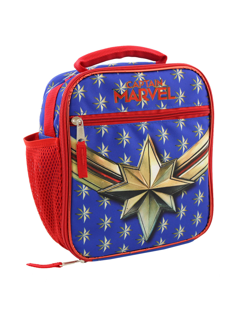 Captain Marvel Girls Boys Soft Insulated School Lunch Box