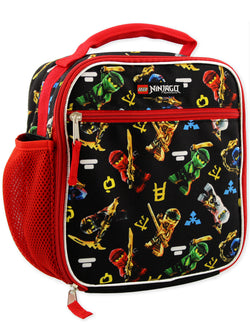 Lego Ninjago Masters of Spinjitzu Boys Soft Insulated School Lunch Box