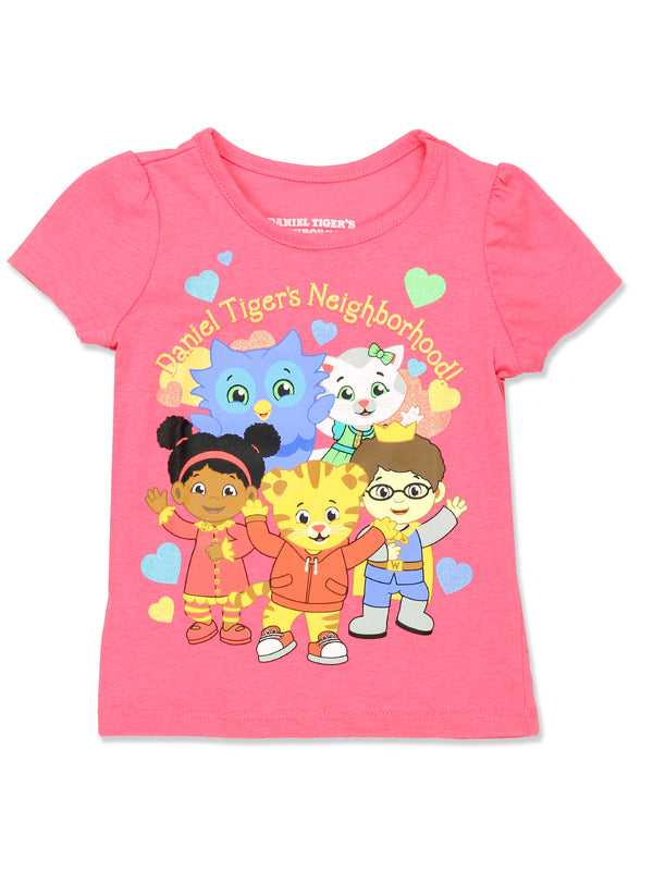 Daniel Tiger Toddler Girls Short Sleeve Tee T-Shirt