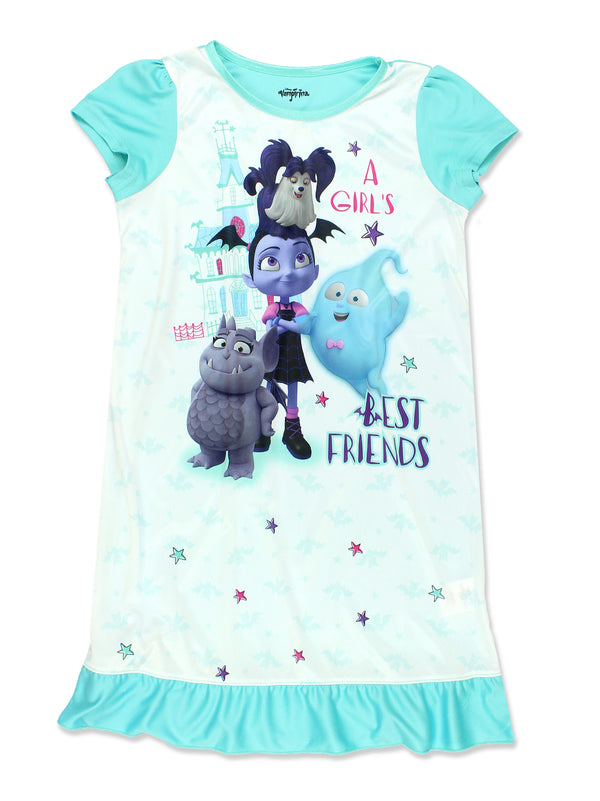 Vampirina Girl's Short Sleeve Nightgown Pajamas