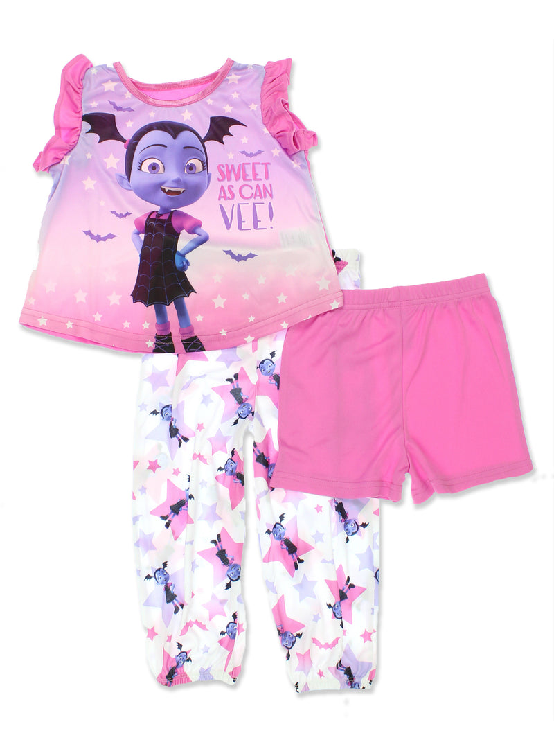 Vampirina Toddler Girl's Ruffle Sleeve 3-piece Pajama Set