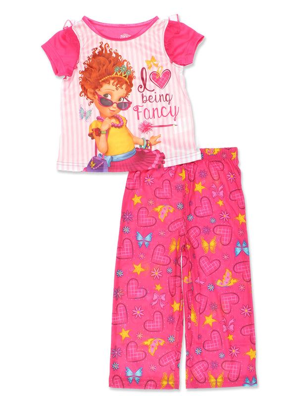 Fancy Nancy Toddler Girls 2 Piece Pants and T-Shirt Pajamas Set