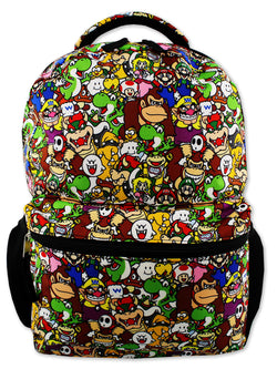 "Nintendo Super Mario Brothers Boys Girls Teen 16"" School Backpack"