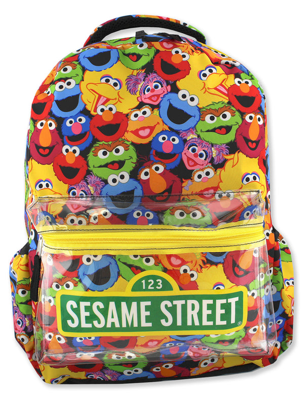 Sesame Street Gang Elmo Boys Girls Toddler 16 inch School Backpack