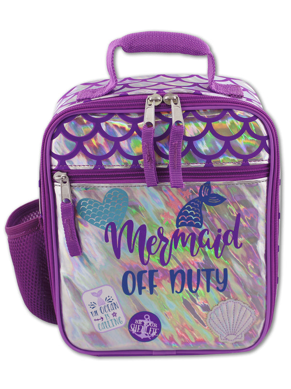 Mermaid Unicorn Girl's Soft Insulated School Lunch Box