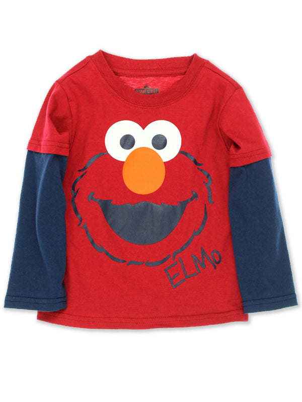 Sesame Street Elmo Baby Boys Long Sleeve Tee