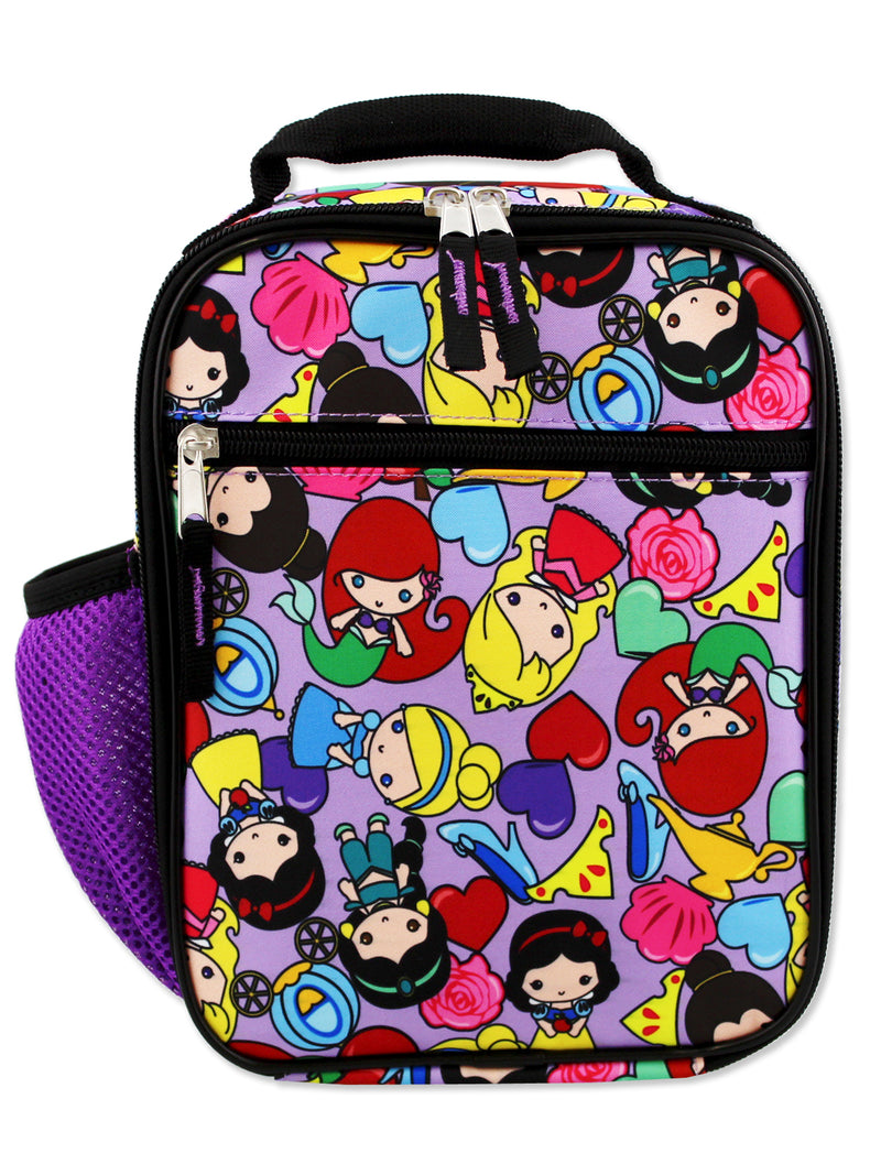 Disney Princess Emoji Girl's Soft Insulated School Lunch Box