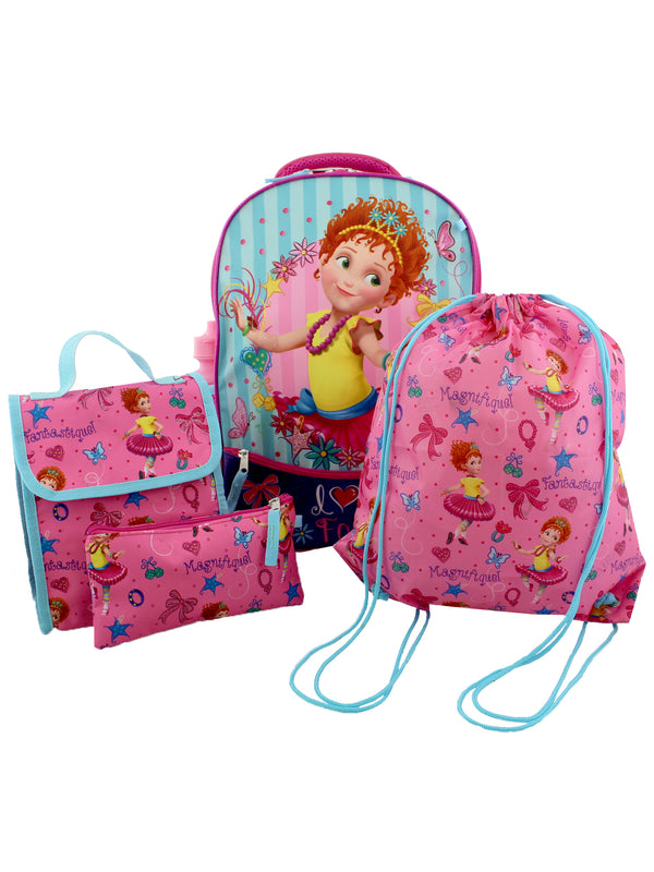 Fancy Nancy Girls 5 piece Backpack and Snack Bag School Set