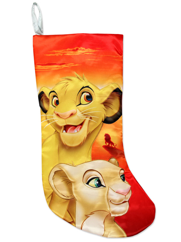 "Kurt Adler Lion King Simba Nala 19"" Christmas Holiday Stocking"