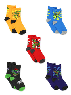 TMNT Teenage Mutant Ninja Turtles Boys 5 pack Crew Socks