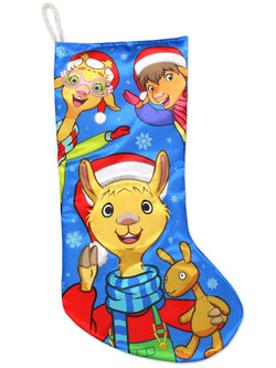 "Kurt Adler Llama Llama Boys Girls 19"" Christmas Holiday Stocking"