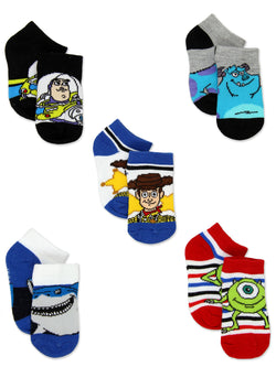 Disney Pixar Characters Toy Story Monsters Inc Finding Nemo Toddler 5 pack Socks