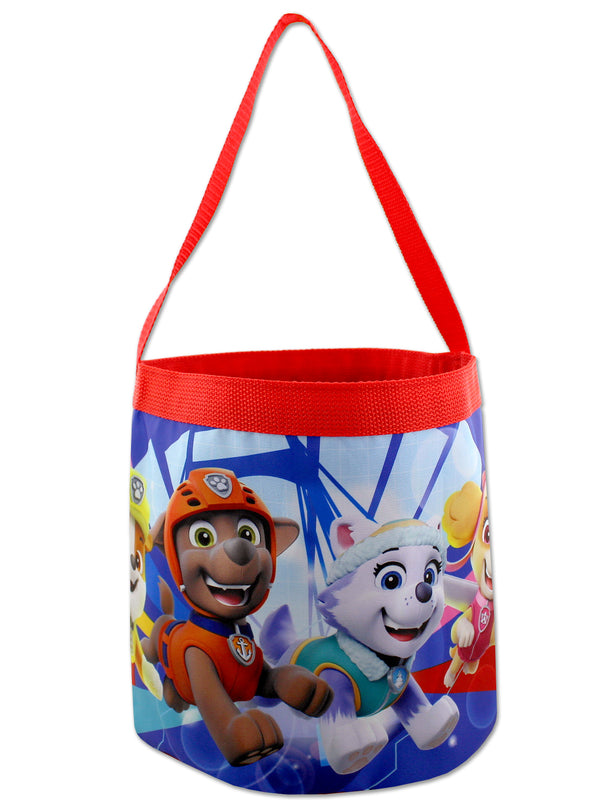 Paw Patrol Boys Girls Collapsible Nylon Gift Basket Bucket Toy Storage Tote Bag