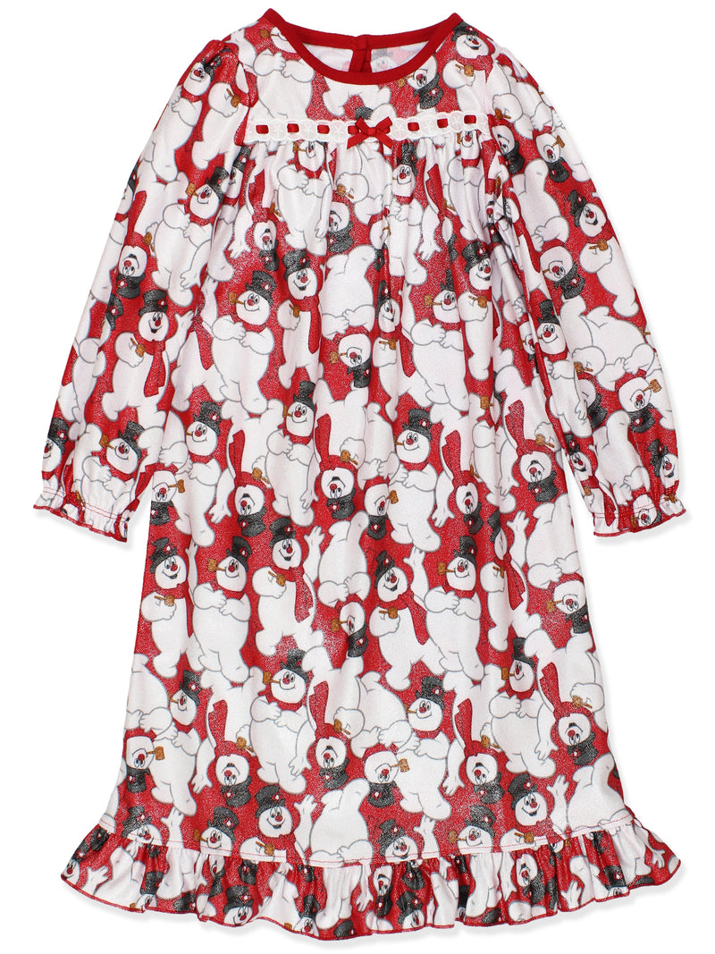 Frosty the Snowman Girls Christmas Holiday Granny Gown Nightgown