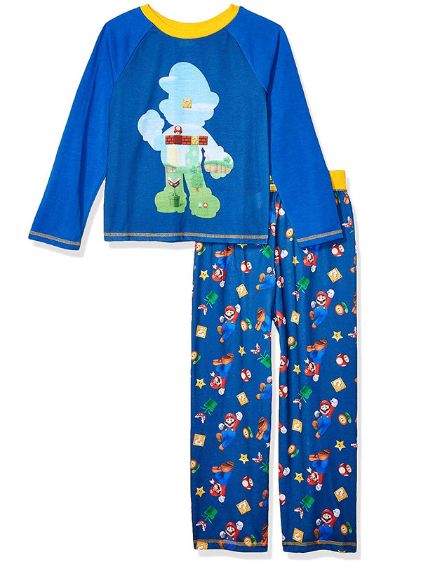 Nintendo Super Mario Boys Long Sleeve 2-Piece Pajamas Set