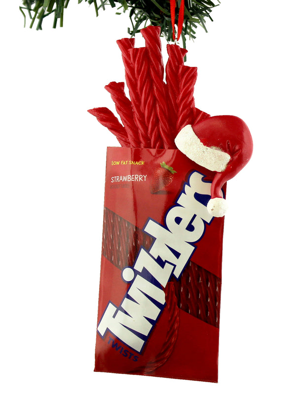 Kurt Adler Hershey's Twizzlers Santa Hat Christmas Holiday Ornament Gift Boxed