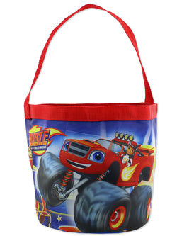 Blaze and the Monster Machines Boys Collapsible Nylon Gift Basket Bucket Toy Storage Tote Bag