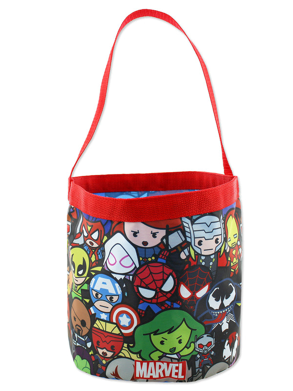 Marvel Kawaii Avengers Boys Collapsible Nylon Gift Basket Bucket Toy Storage Tote Bag