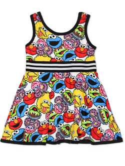 Sesame Street Elmo Toddler Girls Fit and Flare Ultra Soft Dress