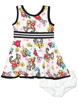 Winnie The Pooh Baby Girls Fit and Flare Ultra Soft Dress